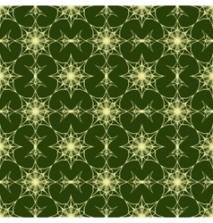 Seamless pattern on green background vector image