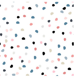 semless hand drawn pattern with colorful dots vector image