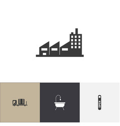 Set of 4 editable hotel icons includes symbols vector