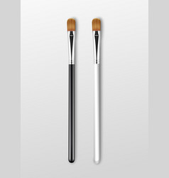 set of brown clean professional makeup vector image