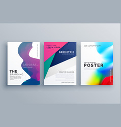 Set of minimal brochure template leaflet flyer vector