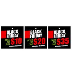set sale tags on black friday vector image