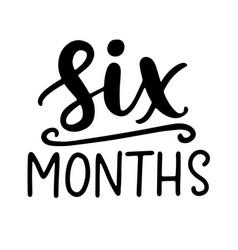 Six months bashower newborn age marker vector