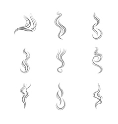 Smoke lines set vector image