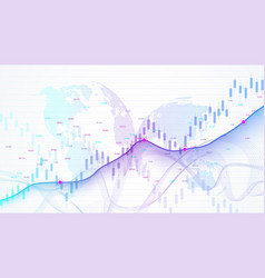 Stock market and exchange business candle stick vector