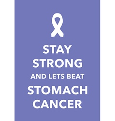 stomach cancer poster vector image