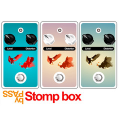 Stomp box design vector
