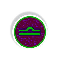 Stylish icon in paper sticker style zodiac sign vector