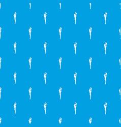 Torch pattern seamless blue vector