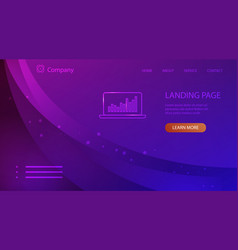 website company landing page in trendy ultra vector image