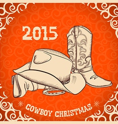 Western New Year with western boots and western vector