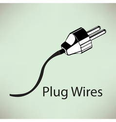 White electricity plug with spiral cord Eps10 vector image