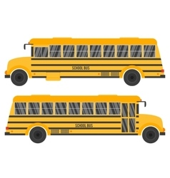 with yellow school bus vector image
