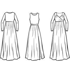 Womens dress vector