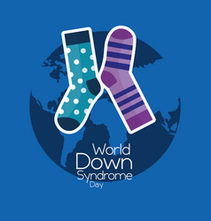 World down syndrome day invitation awareness vector