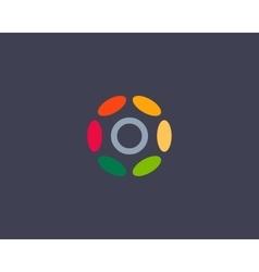 Color letter o logo icon design hub frame vector