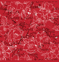 floral typography background print vector image vector image