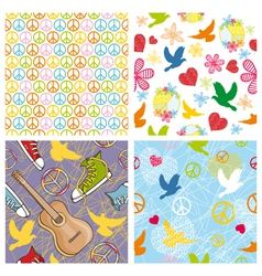 peace seamless backgrounds vector image vector image