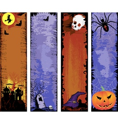 Set of backgrounds halloween vector image vector image