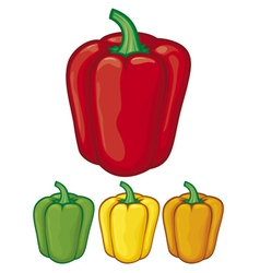 sweet bell peppers vector image vector image