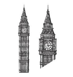 Big ben logo design template england or vector