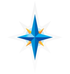 Compass wind-rose vector