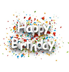 Happy birthday paper card vector image