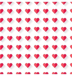 Pink abstract Valentines heart pattern vector image vector image