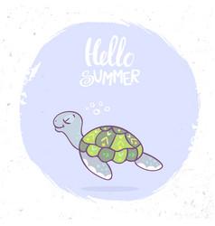 turtle summer vector image