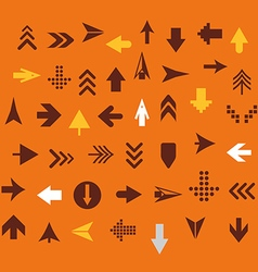 Arrow sign silhouettes collection retro style vector