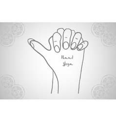 Element yoga Turtle mudra hands vector image