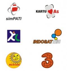 Indonesian gsm operator vector image