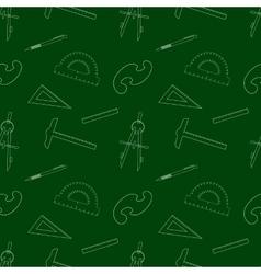 Seamless School Item Background vector image vector image