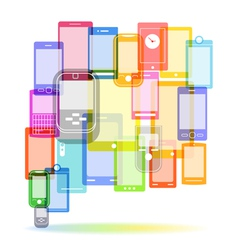 Abstract color speech cloud of modern mobile phone vector image vector image