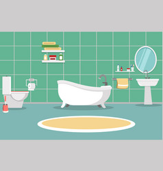 bathroom with furniture bathroom interior vector image
