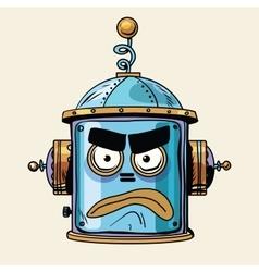 Emoticon angry emoji robot head smiley emotion vector