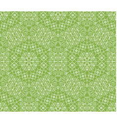 greenery geometric ornament seamless pattern vector image vector image