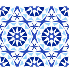 Kaleidoscope abstract flower pattern vector