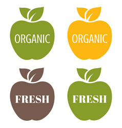 organic labels set vector image