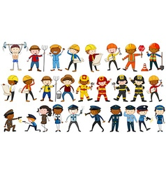 Set of people in different occupations vector image vector image
