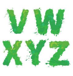 v w x y z handdrawn english alphabet - vector image vector image