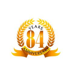 84 years ribbon anniversary vector