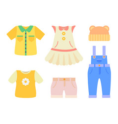 Baby clothes collection poster vector