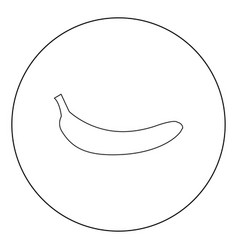 banana black icon in circle isolated vector image