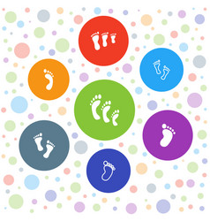 Barefoot icons vector