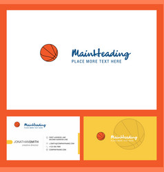 basketball logo design with tagline front and vector image