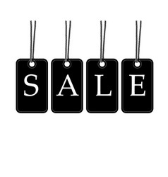 black and white price tag hang from rope big sign vector image