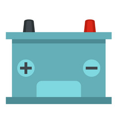 Blue battery car icon isolated vector