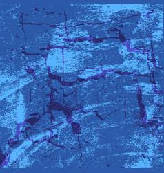 blue damaged wall vector image