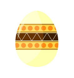 Bohemian pattern easter egg vector
